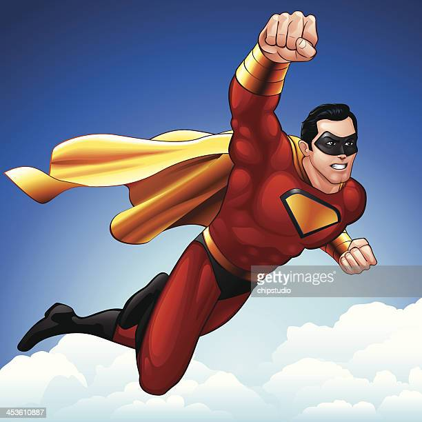 superheld flug - fliegen stock-grafiken, -clipart, -cartoons und -symbole