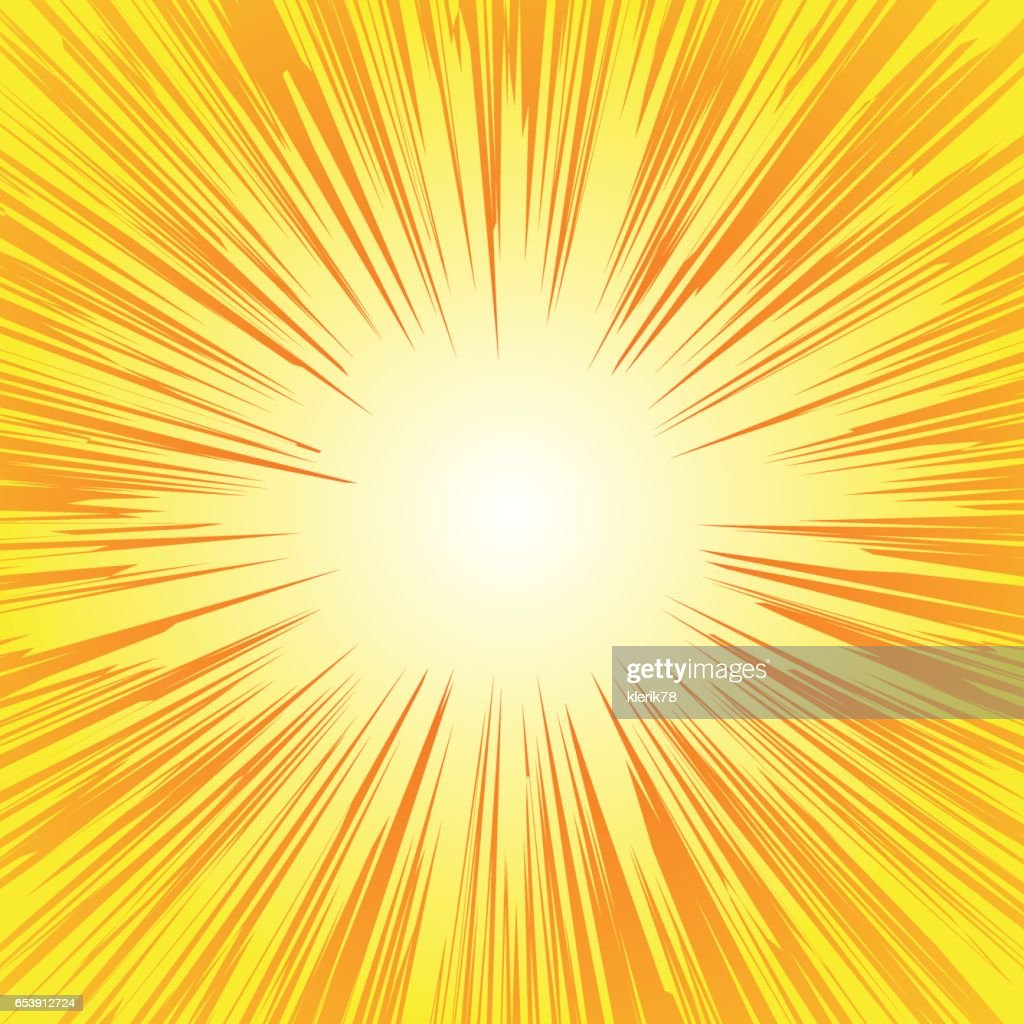 Superhero frame, Comic book radial lines background, Manga or anime speed graphic texture, Explosion vector illustration , Rectangle fight stamp for card, Sun ray or star burst element