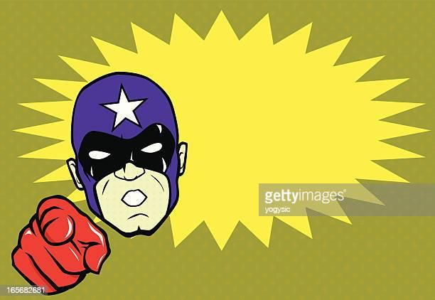 Superhero Head Bust