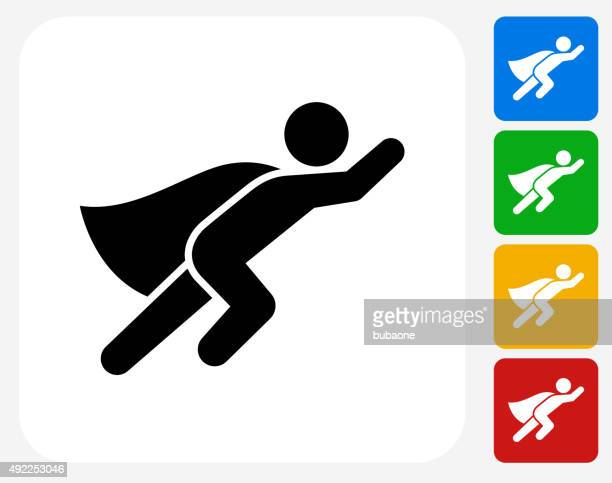 Superhero Icon Flat Graphic Design