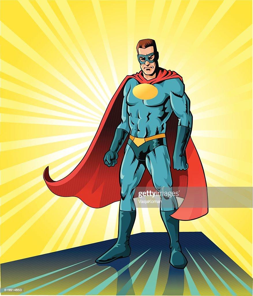 Superhero in Battle Pose