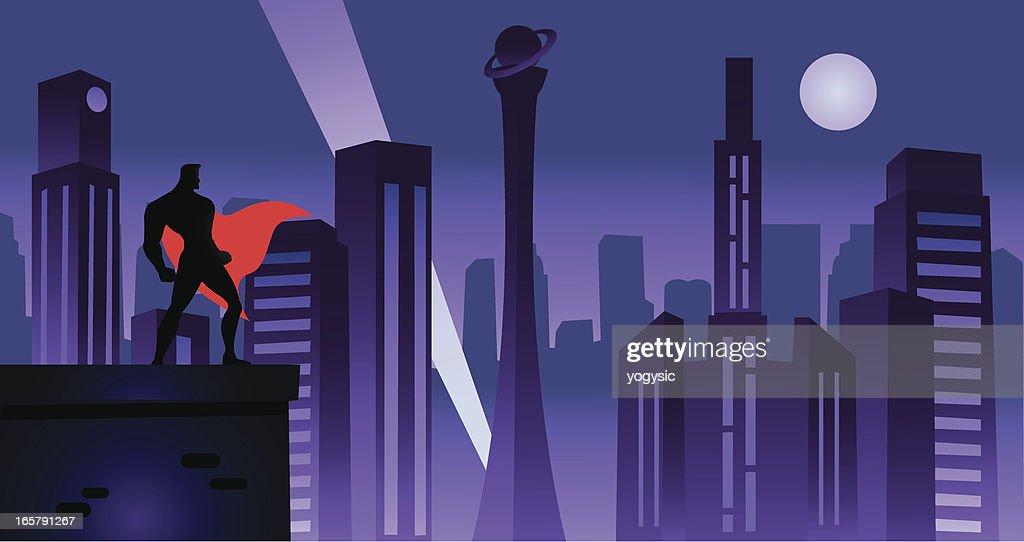 Superhero in Retro City