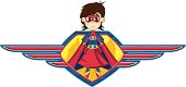 Superhero in Winged Shield