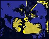 Superhero kiss