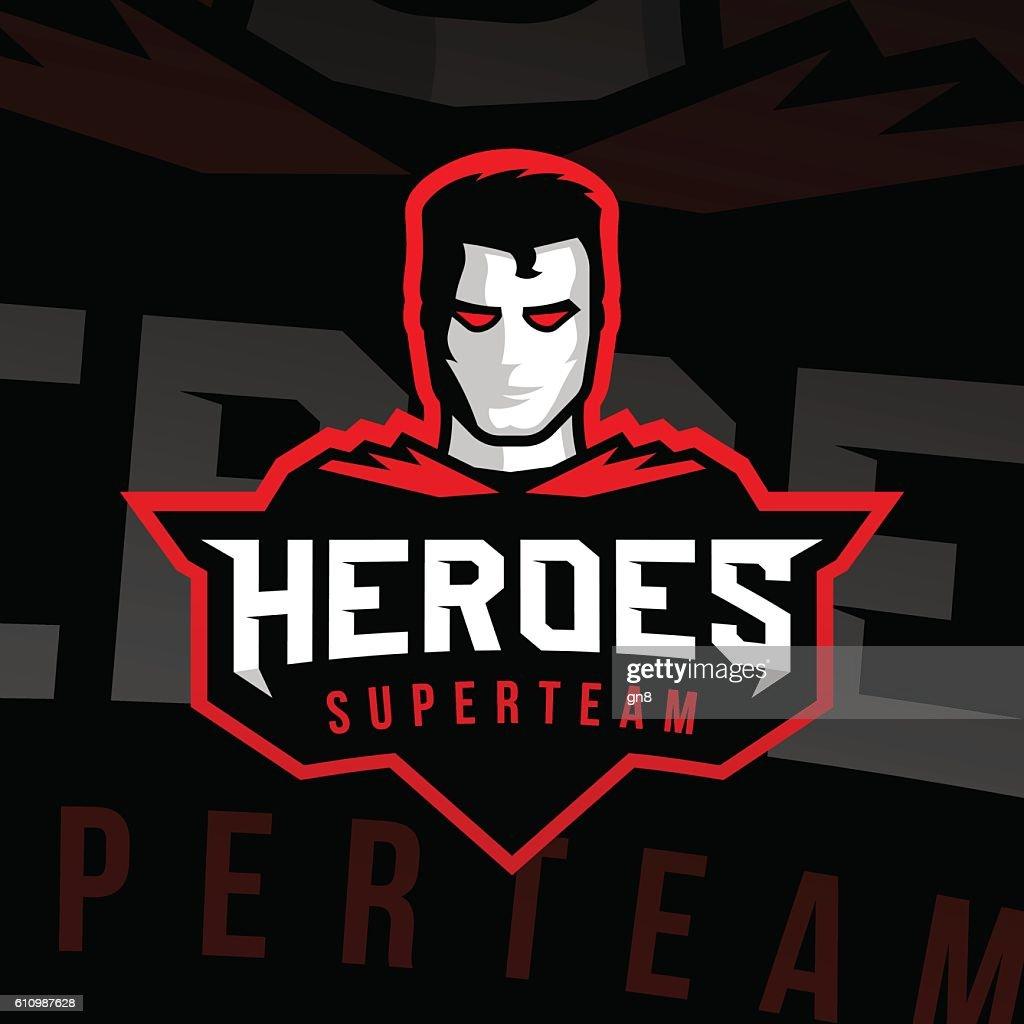 Superhero logo sport style