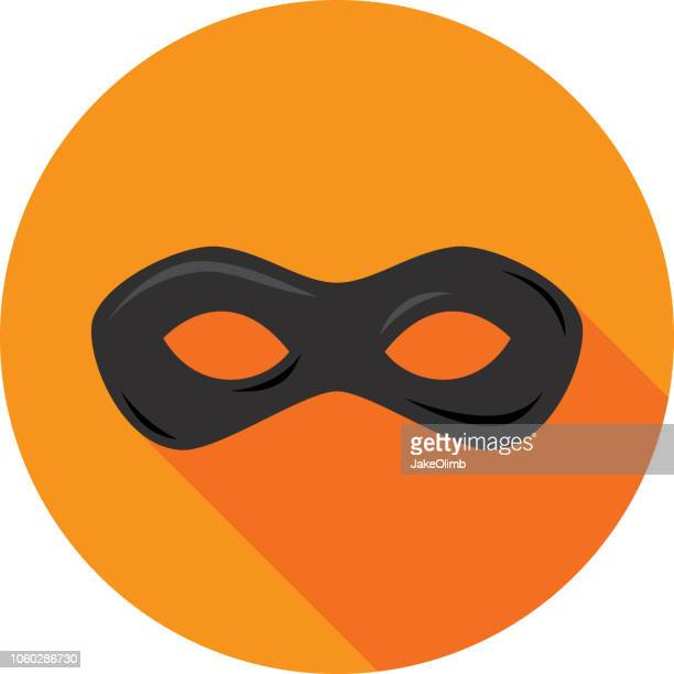 superhero mask icon flat - heroes stock illustrations