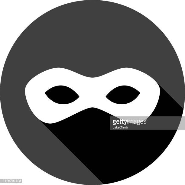 Superhero Mask Icon Silhouette