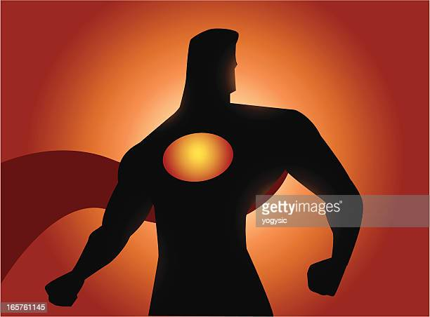 superhero pose - superman stock illustrations