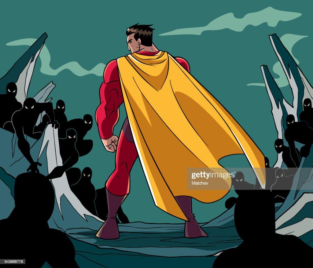 Superhero Ready for Battle