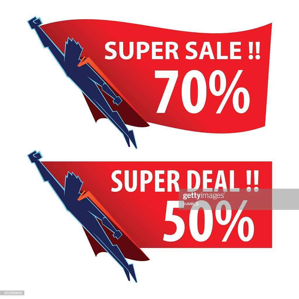 Superhero Sale And Discount Store Sign