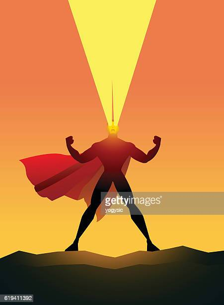 Superhero Shooting Heat Vision