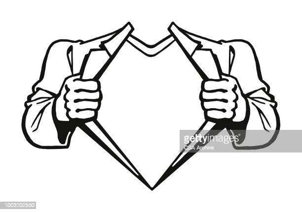 superhero showing chest - chest torso stock illustrations, clip art, cartoons, & icons