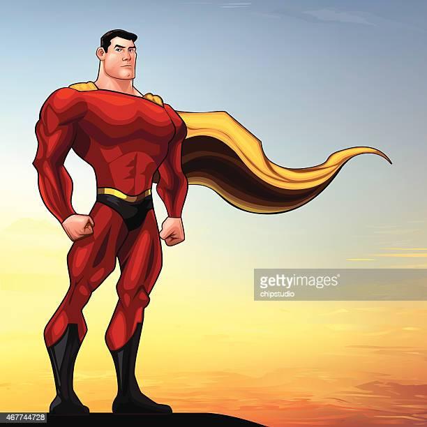 superhero standing - revenge stock illustrations