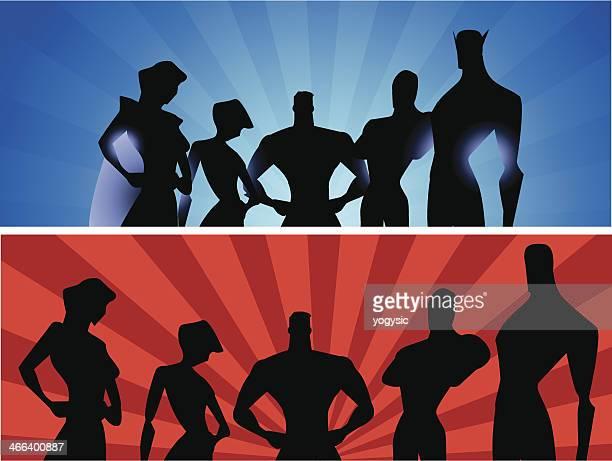 Superhero Team Banner