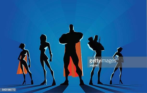 Superhero Team Silhouette