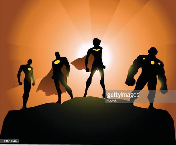 Superhelden-Silhouette