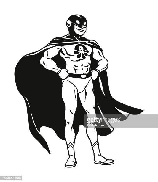 superhero - cape garment stock illustrations