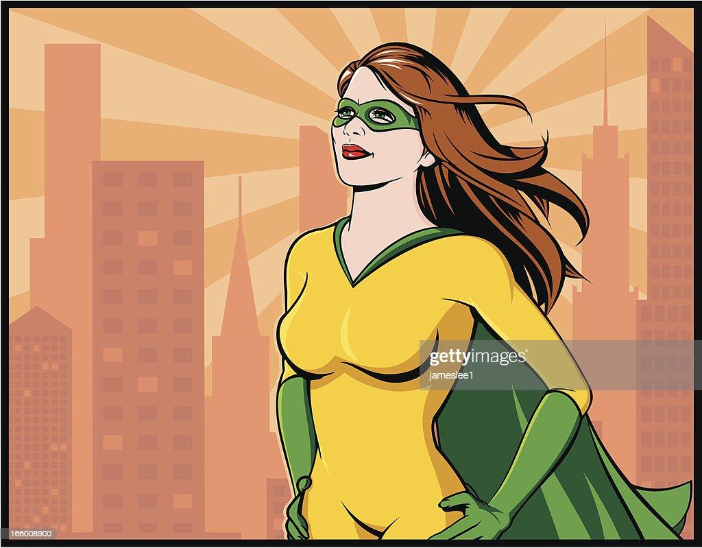 Superhéroe : Ilustración de stock