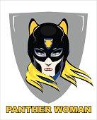 Superhero Woman. Panther Woman