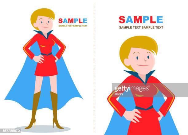 ilustraciones, imágenes clip art, dibujos animados e iconos de stock de super mujeres (etnia caucásica) con mano en cadera - madre trabajadora