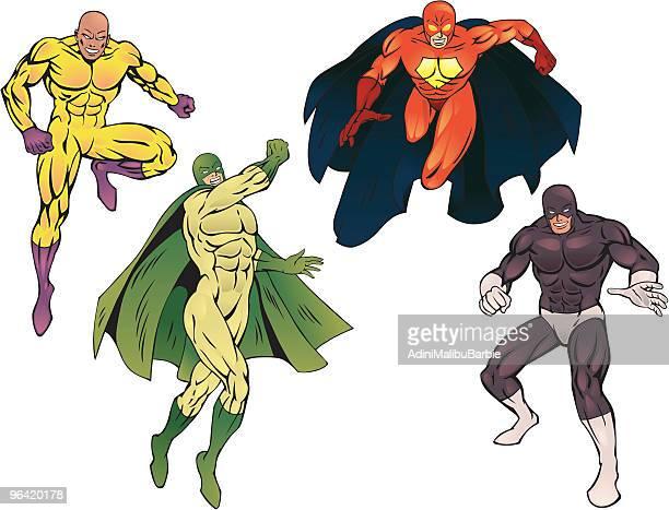 superheroes pack iii - genetic mutation stock illustrations