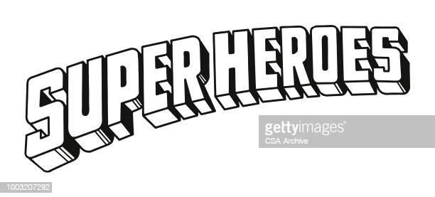 superheroes - superhero stock illustrations