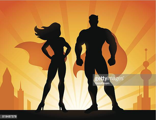 superheroes - body building stock illustrations