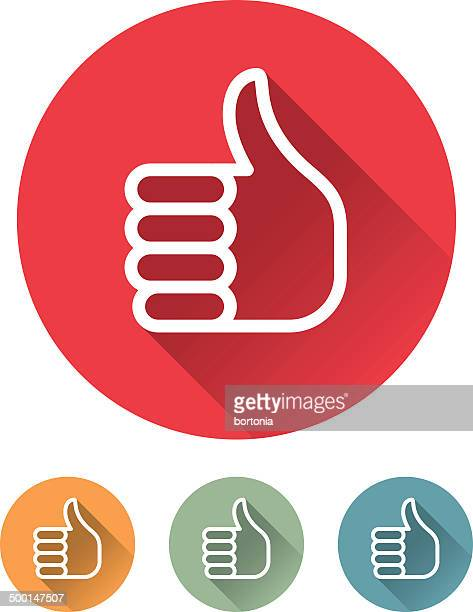 superlight flat design interface thumbs up icon - ok sign stock illustrations, clip art, cartoons, & icons