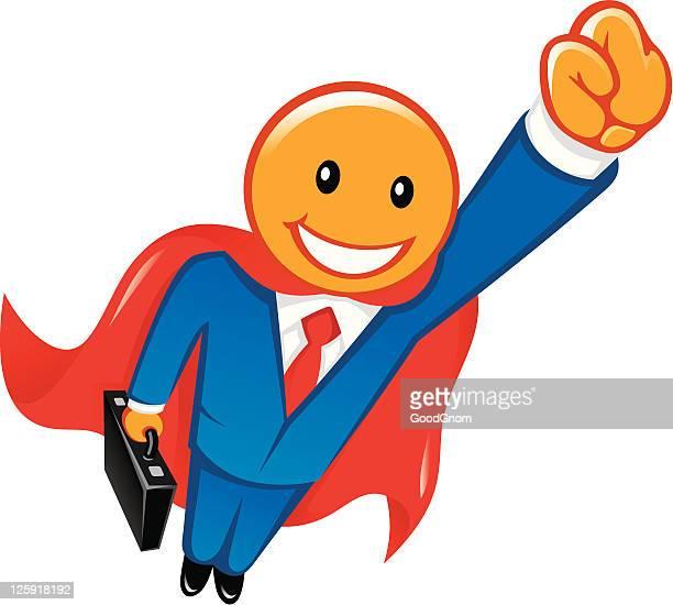 ilustraciones, imágenes clip art, dibujos animados e iconos de stock de superman, hombre - maletín