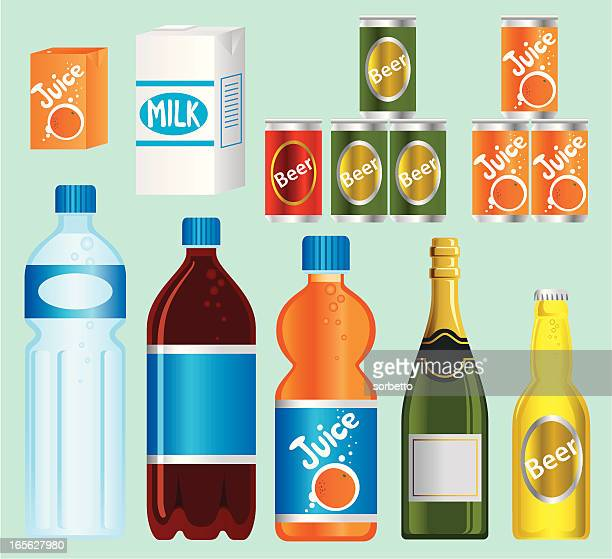 supermarket— beverage series - juice drink stock illustrations, clip art, cartoons, & icons
