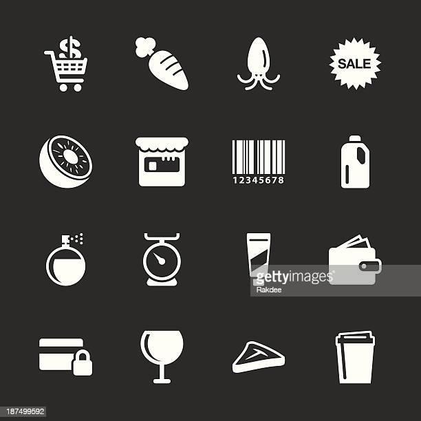 Supermarket Icons Set 2 - White Series