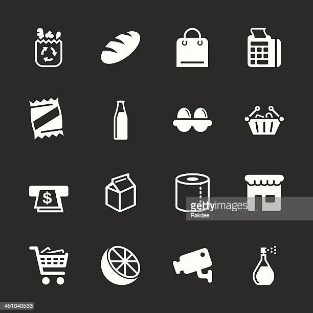 Supermarket Icons - White Series   EPS10