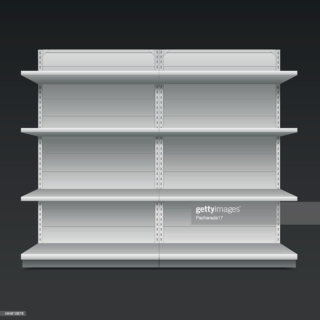 Supermarket shelf. Vector illustration