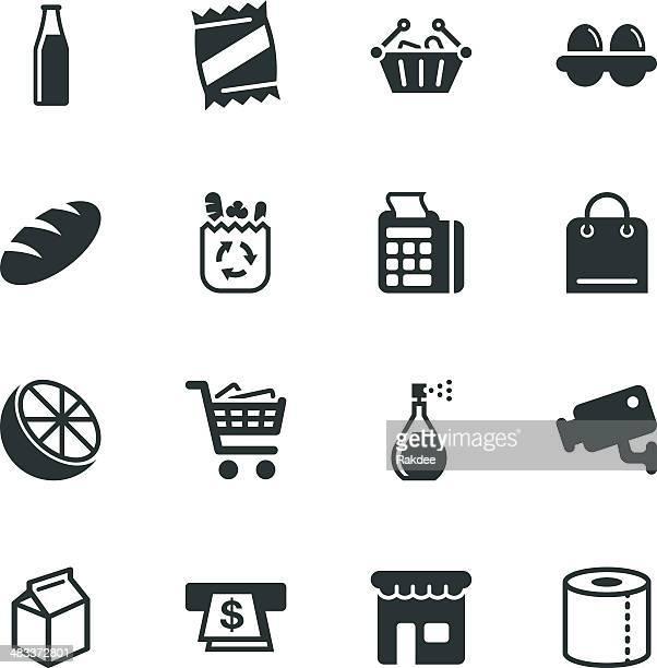 Supermarché icônes de Silhouette