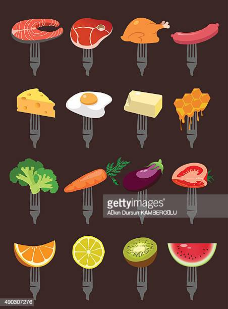 supermarket - broccoli stock illustrations, clip art, cartoons, & icons