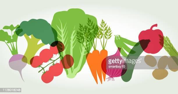 スーパー マーケットの野菜