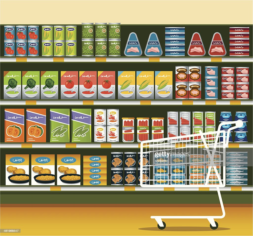 Supermarket with Canned Food
