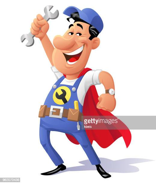 super-mechanic - carpentry stock illustrations