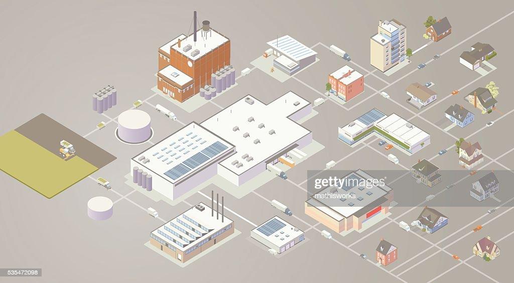 Supply Chain Diagram Illustration : stock illustration