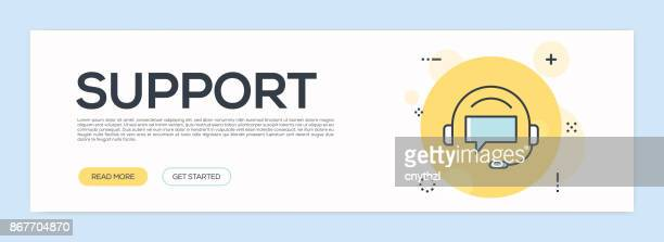 Support Concept - Flat Line Web Banner