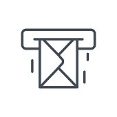 Support Contacts Work Service Line Icon Mail Message
