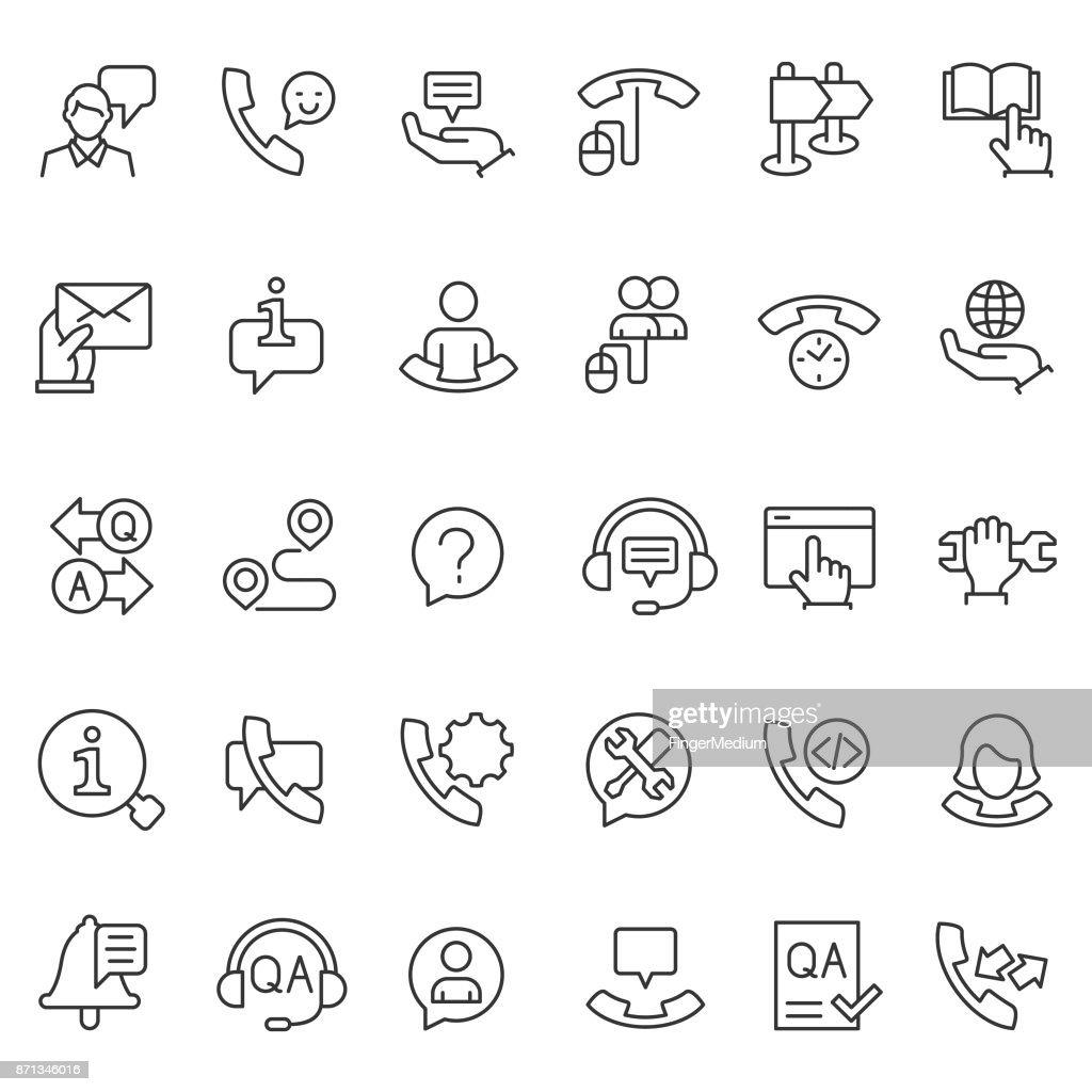 Support icon set : stock illustration