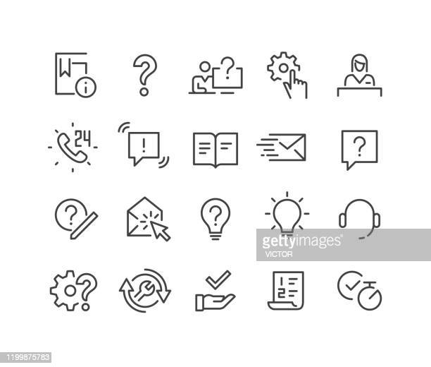 サポートアイコン - クラシックラインシリーズ - くつろぐ点のイラスト素材/クリップアート素材/マンガ素材/アイコン素材