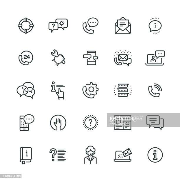 support icons - asking stock illustrations