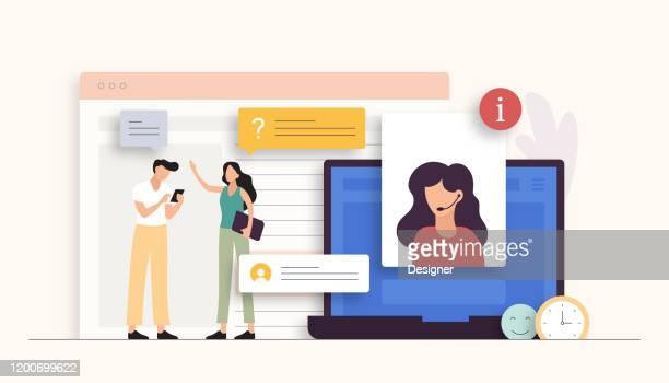 illustrazioni stock, clip art, cartoni animati e icone di tendenza di supporta illustrazione vettoriale correlata. design moderno piatto - rosa pallido