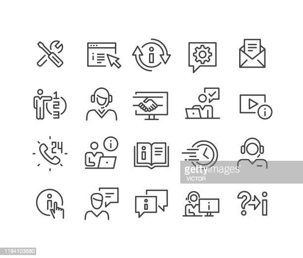 support service icons - classic line series - chores stock illustrations