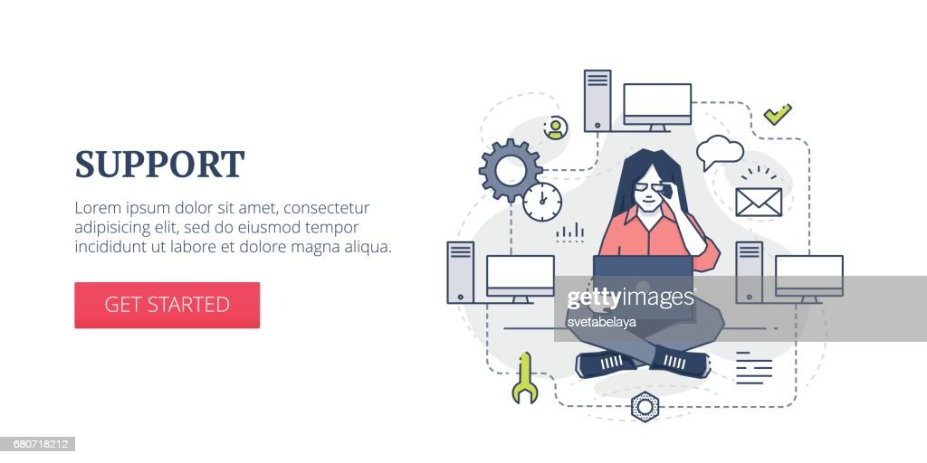 Support web banner