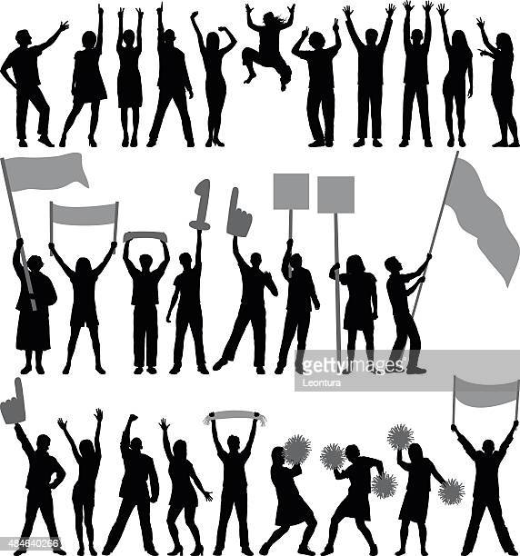 supporters or protestors - holding stock illustrations, clip art, cartoons, & icons