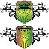 surf grunge shields with summer spirit