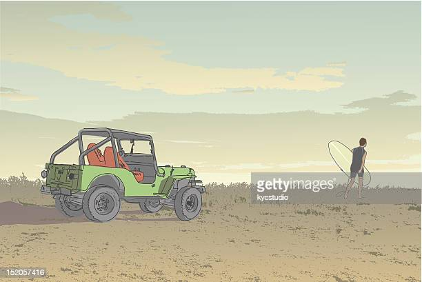 surf time - 4x4 stock illustrations, clip art, cartoons, & icons